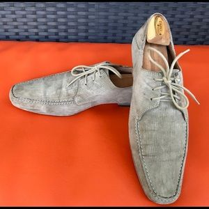 Italian Suede Leather Mens Shoes Size 9